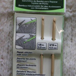 Clover bamboo knitting repair hooks (1)