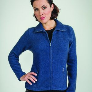 KO478  Shaped zip jacket in cobalt