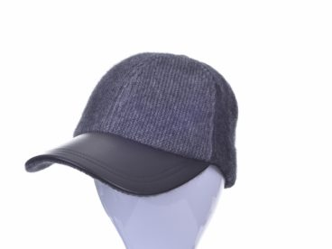 Contrast Leather Peak Hat