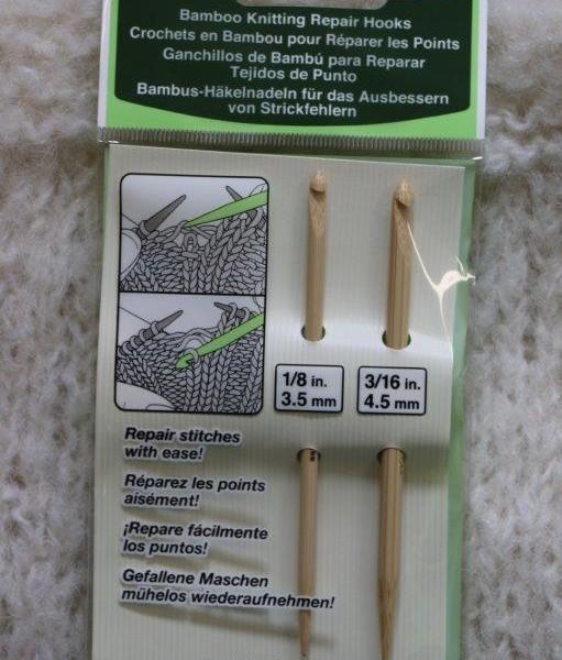 Clover bamboo knitting repair hooks (1)