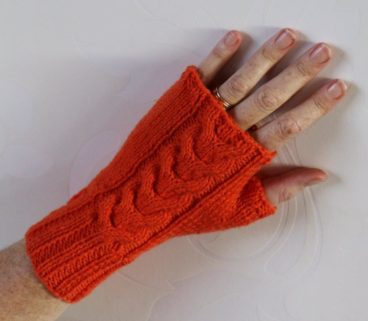 Fingerless Ripple Mittens Pattern