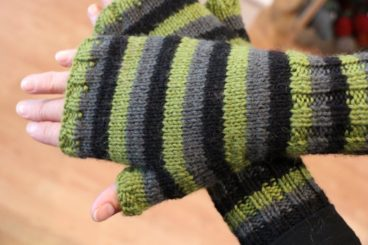 Fingerless Stripes Mittens Pattern