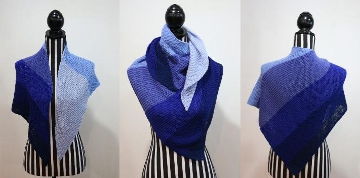 Ombre Shawl Blue